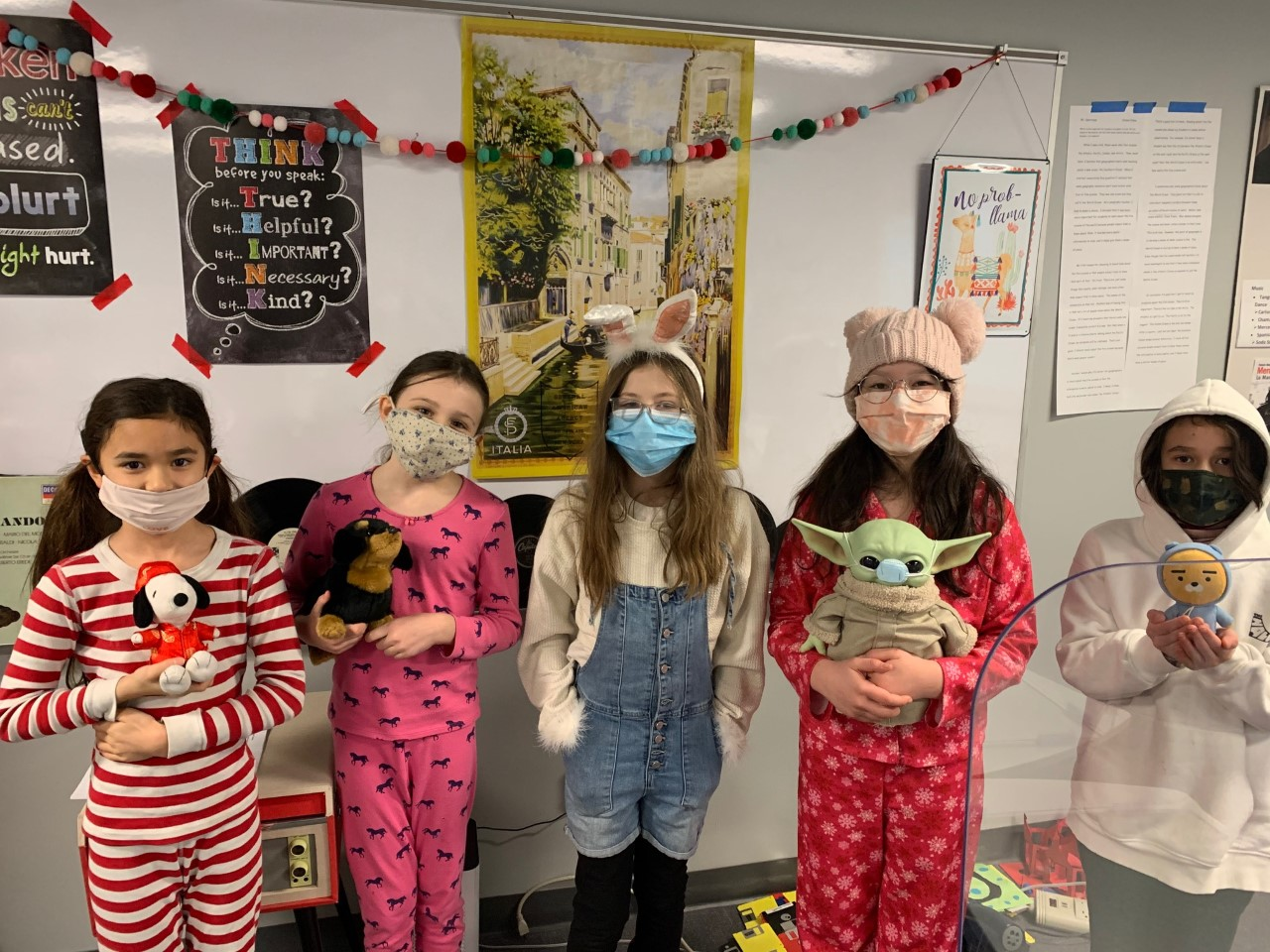 Students in 4Si pose for PJ day.