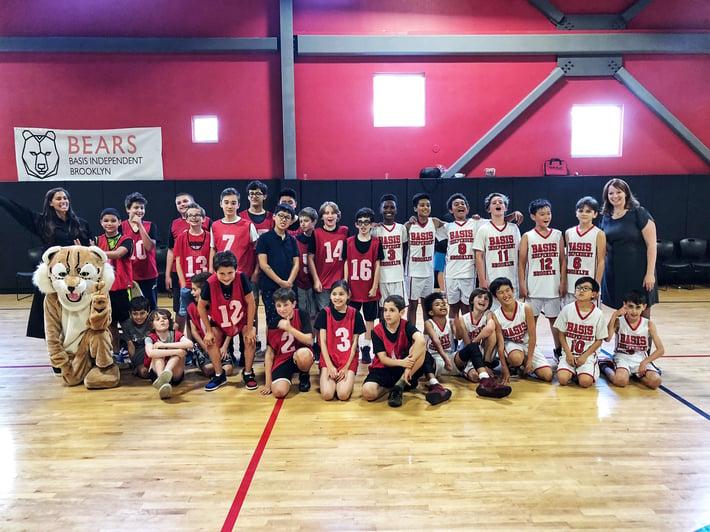 BIB BIMN basketball scrimmage