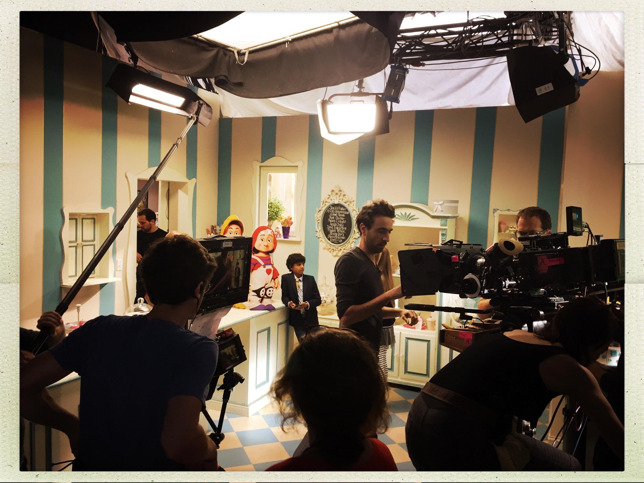 Kaeden on set with dwarfs-1.jpg
