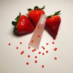 strawberry lip gloss square